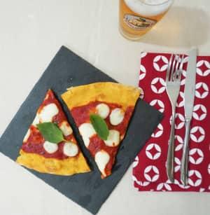 pizza biologica pronta da gustare